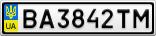 Номерной знак - BA3842TM