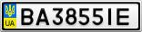 Номерной знак - BA3855IE