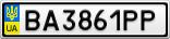 Номерной знак - BA3861PP