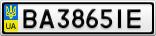 Номерной знак - BA3865IE