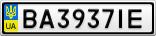 Номерной знак - BA3937IE