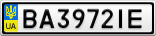 Номерной знак - BA3972IE
