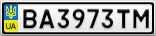 Номерной знак - BA3973TM