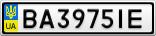 Номерной знак - BA3975IE