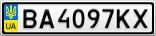 Номерной знак - BA4097KX