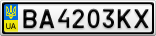 Номерной знак - BA4203KX