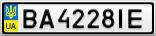 Номерной знак - BA4228IE
