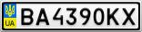 Номерной знак - BA4390KX