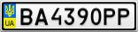 Номерной знак - BA4390PP