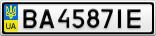 Номерной знак - BA4587IE