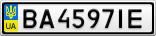Номерной знак - BA4597IE