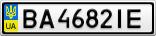 Номерной знак - BA4682IE