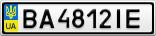 Номерной знак - BA4812IE