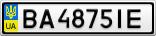 Номерной знак - BA4875IE