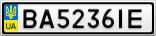 Номерной знак - BA5236IE