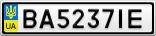 Номерной знак - BA5237IE