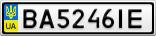 Номерной знак - BA5246IE