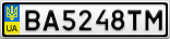 Номерной знак - BA5248TM