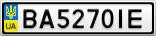 Номерной знак - BA5270IE