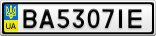 Номерной знак - BA5307IE