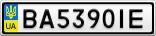 Номерной знак - BA5390IE