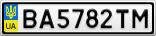 Номерной знак - BA5782TM