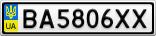 Номерной знак - BA5806XX