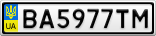 Номерной знак - BA5977TM