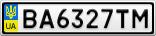 Номерной знак - BA6327TM