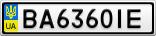 Номерной знак - BA6360IE
