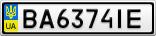 Номерной знак - BA6374IE