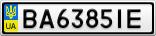 Номерной знак - BA6385IE