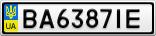 Номерной знак - BA6387IE