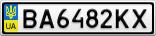 Номерной знак - BA6482KX