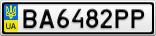Номерной знак - BA6482PP