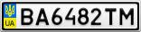Номерной знак - BA6482TM