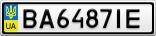 Номерной знак - BA6487IE