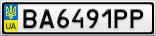 Номерной знак - BA6491PP