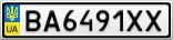 Номерной знак - BA6491XX