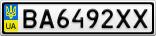 Номерной знак - BA6492XX