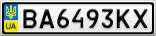 Номерной знак - BA6493KX