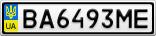 Номерной знак - BA6493ME