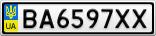Номерной знак - BA6597XX