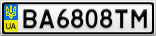 Номерной знак - BA6808TM