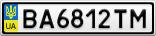 Номерной знак - BA6812TM
