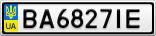 Номерной знак - BA6827IE