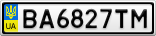Номерной знак - BA6827TM