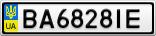 Номерной знак - BA6828IE