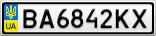 Номерной знак - BA6842KX