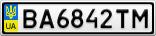 Номерной знак - BA6842TM